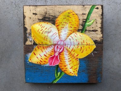 orchidee hout decoratie