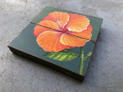 oranje bloem sloophout