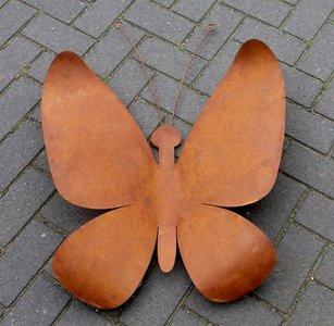 wanddecoratie vlinder metaal