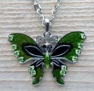 ketting vlinder hanger groen