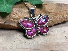 roze vlinder ketting