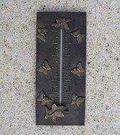 thermometer brons vlinder