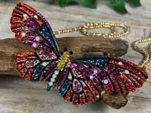 vlinder kleuren broche