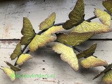 muurdecoratie vlinders brons