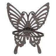 wanddecoratie bloempot vlinder