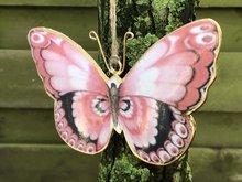 vlinder metaal hang decoratie