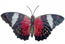 wanddecoratie vlinder metaal 35x20cm