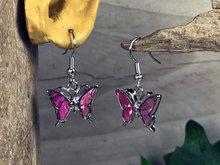 roze vlinder hangoorbellen