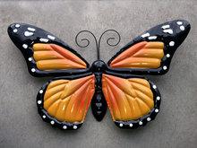 wanddecoratie metaal vlinder