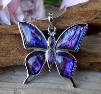 paarse vlinder hanger