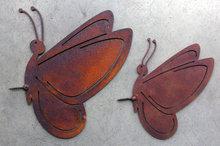 vlinder decoratie roest
