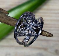 ring vlinder zilver