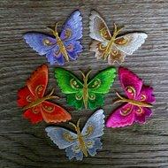strijkapplicatie vlinder - kies uit 6 kleuren