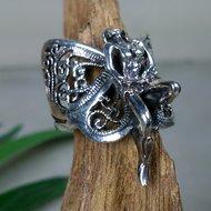 vlinder elf ring zilver