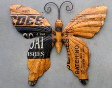 vlinder metaal voor aan de wand