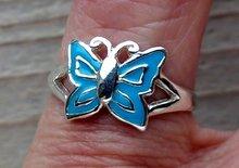 zilveren kinderring vlinder