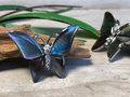 vlinder broche schelp