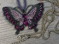 roze vlinder hanger